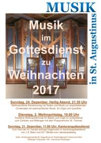 Musik in St. Augustinus zu Weihnachten 2017