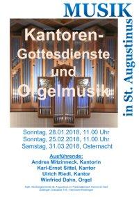 Kantorengottesdienst und Orgelmusik in St. Augustinus