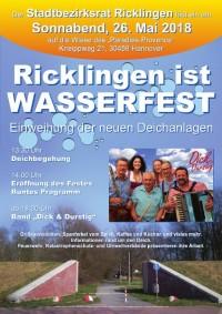 Ricklingen ist wasserfest - Samstag, 26. Mai 2018 ab 13.30 Uhr, Wiese des Paradies-Provence