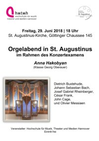 Orgelabend in St. Augustinus
