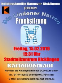 Kolpingsfamilie Hannover-Ricklingen und Lindener Narren feiern Karneval