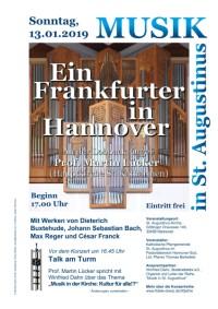 Musik in St. Augstinus: Ein Frankfurter in Hannover