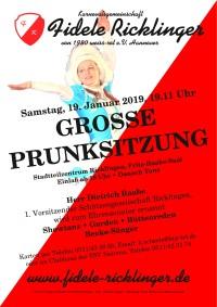 Gro�e Prunksitzung der Fidelen Ricklinger am 19. Januar 2019