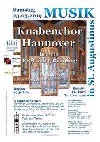 Knabenchor Hannover singt in St. Augustinus am Sa., 23.03.2019
