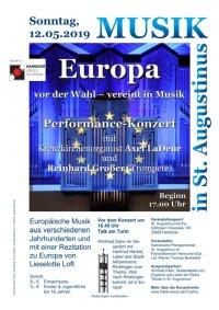 Musik in St. Augustinus: Europa vor der Wahl - vereint in Musik