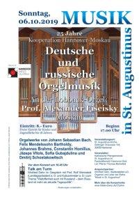 Orgelkonzert mit Prof. Alexander Fiseisky aus Moskau/Russland am 6. Oktober 2019