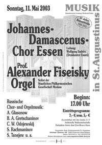 Prof. A.Fiseisky und der Johannes-Damascenus-Chor