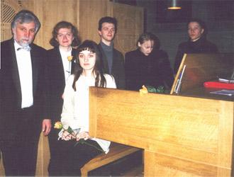 Prof. Fiseisky und seine Studenten